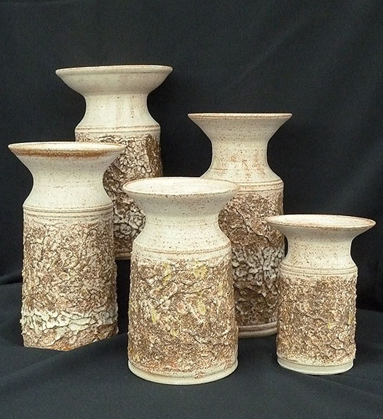 Textured lily vases